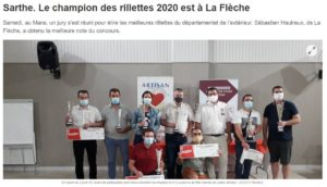 Ouest France article champion rillettes 2020