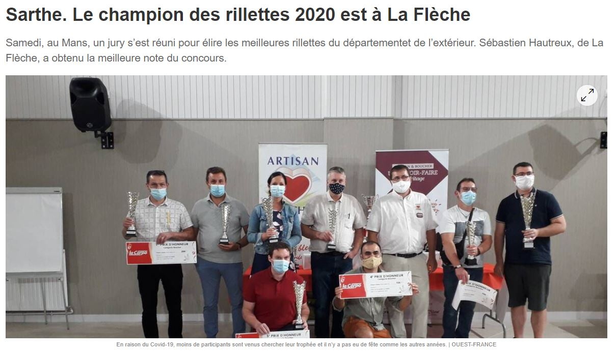 Ouest France article champion rillettes 2020